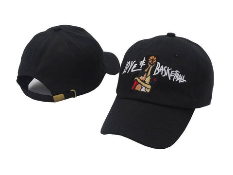 "1KingBrand iconic ""Love & Basketball"" dad hat, black."
