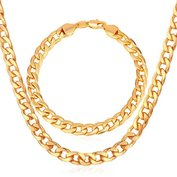 """Miami"" Cuban Link Chain & Bracelet Bundle"