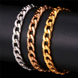 Silver, Rose Gold, and Gold Chain Link Bracelet