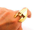 Gold Spartan Ring for Men's Fashion on a finger