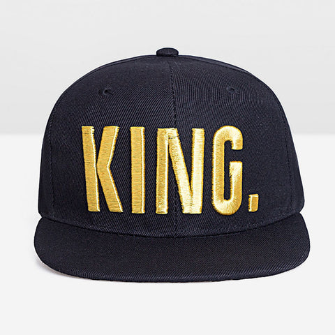 """1King"" Gold Snapback Hat"