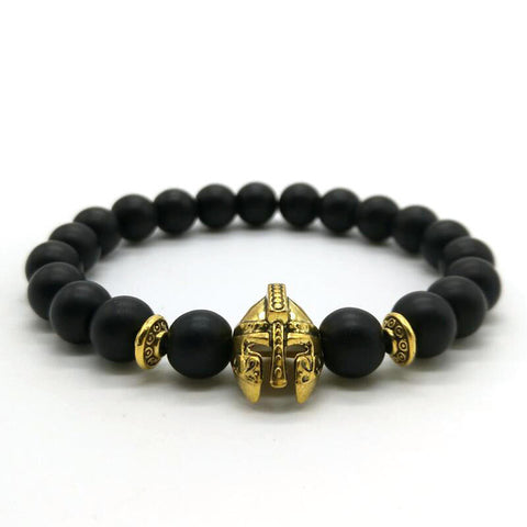 "1King Vintage ""Roman Knight"" Bracelet. Gold and Matte Black"