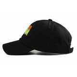 "1KingBrand legendary ""Space Jam"" dad hat. Based on the hit movie ""Space Jam"", Black color, side view"
