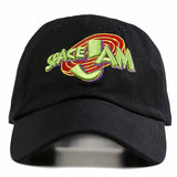 "1KingBrand legendary ""Space Jam"" dad hat. Based on the hit movie ""Space Jam"", Black color, front view"