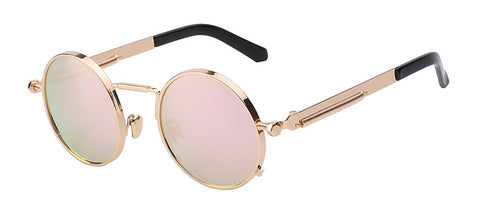 "Gold/Pink- ""1King Steampunk New Era"" Sunglasses"