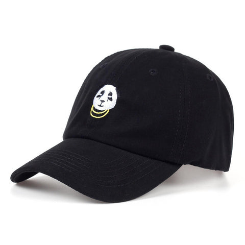 Stylish and Trendy 1KingBrand panda dad hat, black side view