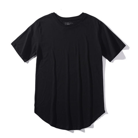 Simple Curve Hem T-shirt