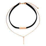 Maria's Gold - 2 Piece Choker with Black laid out