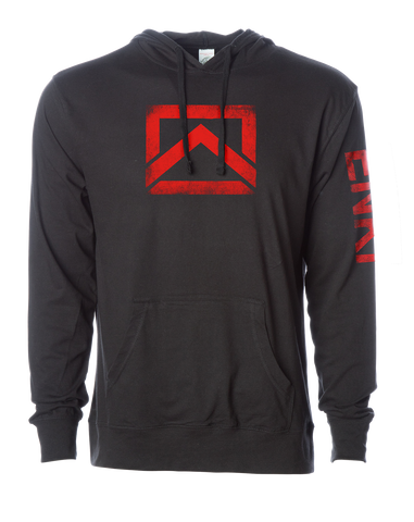 ENKI Icon- Lightweight Hoodie- Red Logo
