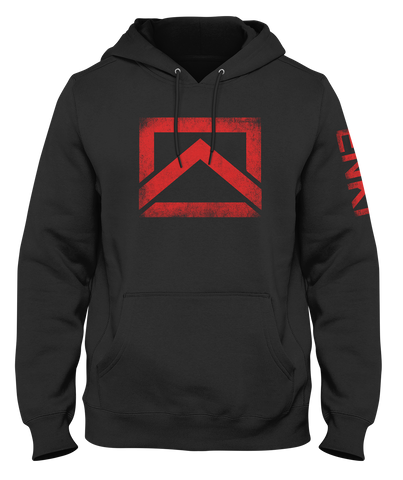 ENKI Icon- Heavyweight Hoodie- Red Logo
