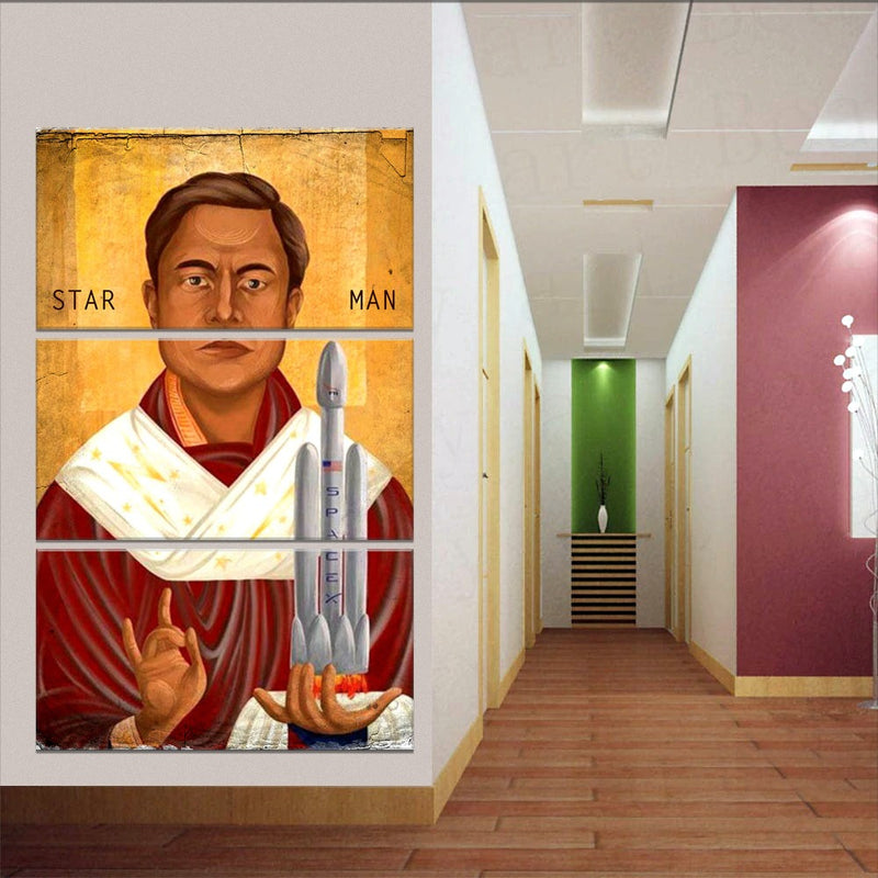Saint Star Man Astronomy Canvas