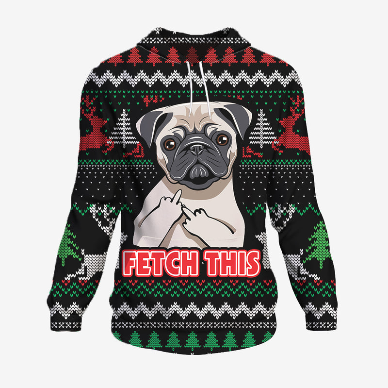 Fetch This - Pug Hoodie
