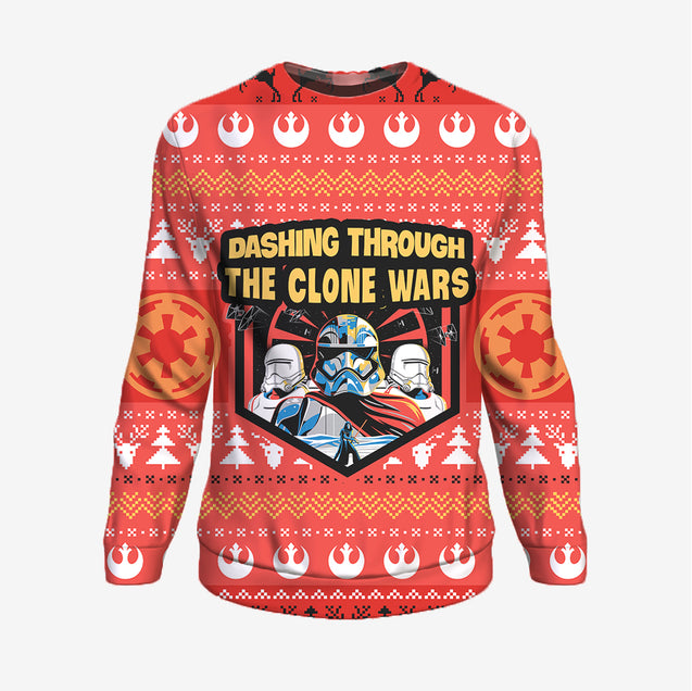 Dashing Through The Clone Wars - Star Wars Sweatshirt