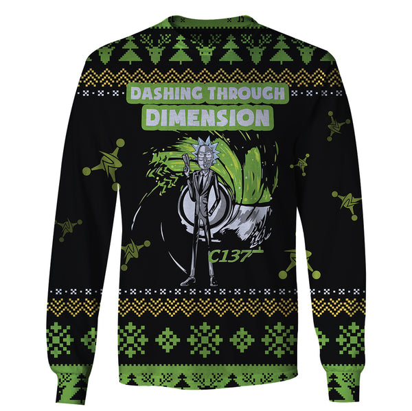 Dashing Through Dimension - Rick and Morty Long Sleeve
