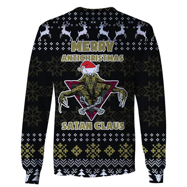 Merry Antichristmas Satan Claus - Funny Christmas Long Sleeve