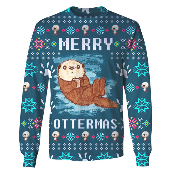 Merry Ottermas - Funny Christmas Long Sleeve