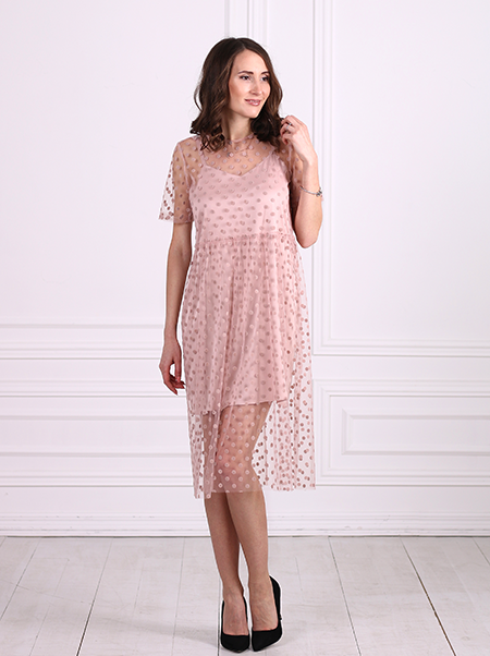FLOUNCE TOP SUMMER COTTON DRESS