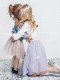 MOMMY AND DAUGHTER MATCHING TUTUS - Gray Fog (Dusty Rose)