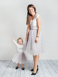 MOMMY AND DAUGHTER MATCHING TUTUS - Silver