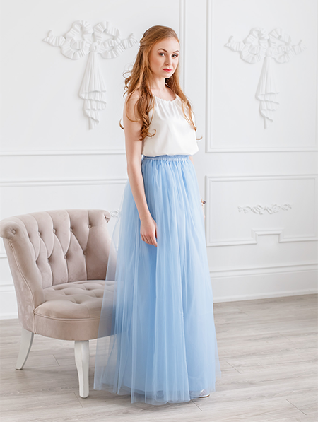 THE EVA MAXI TULLE SKIRT
