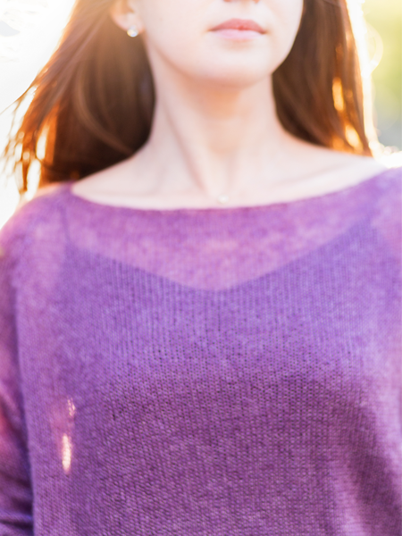 KNIT MOHAIR SWEATER