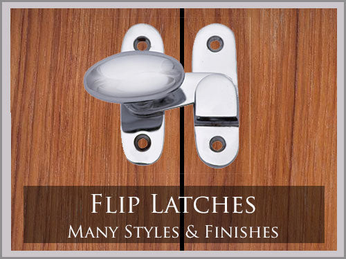 Flip up latches