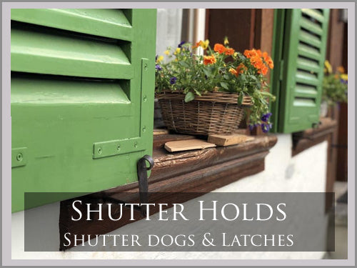 SHUTTER DOGS, LATCHES & HOLDS