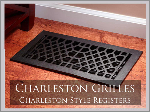 HEAVY DUTY CHARLESTON IRON GRILLES & REGISTERS