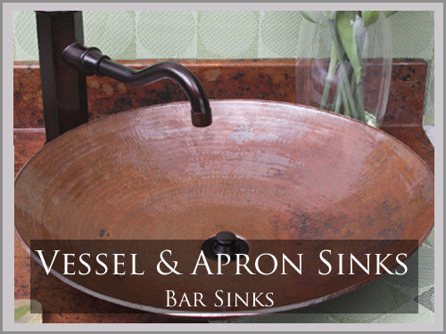 COPPER VESSEL AND APRON SINKS