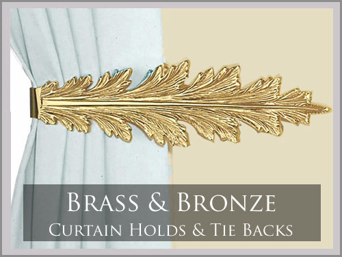 BRASS & BRONZE CURTAIN HOLDS