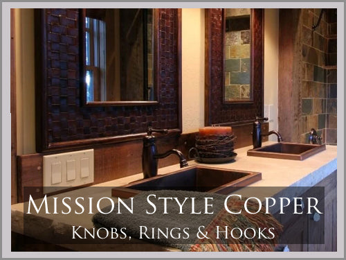 MISSION STYLE COPPER BATH HARDWARE