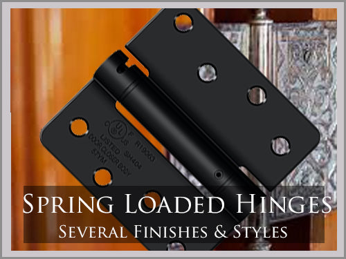 SPRING LOADED HINGES
