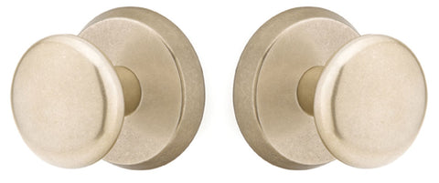 Solid Brass Sandcast Winchester Door Knob Set With Disk Rosette