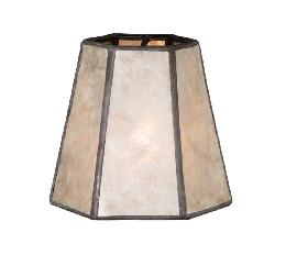 Chandelier Mica Shade Mini Hexagon Natural