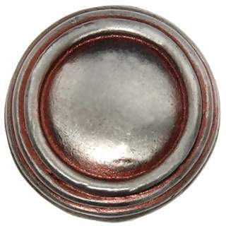 1 1/4 Inch Solid Pewter Ribbon & Reed Sonnet Knob (Pewter Whitewash)