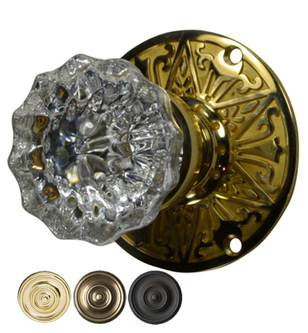 Eastlake Crystal Fluted Door Knob