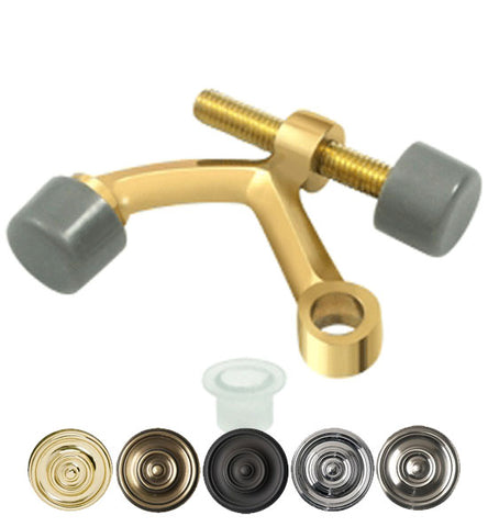 2 3/8 Inch Solid Brass Hinge Pin Door Stop in Several Finishes