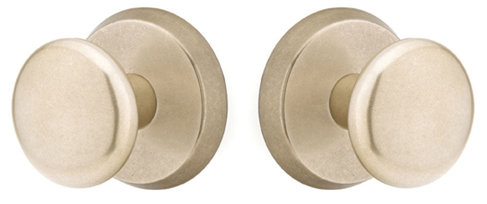 Emtek Solid Brass Sandcast Winchester Door Knob Set With Disk Rosette