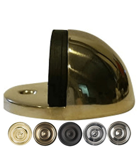 1 Inch Low Profile Floor Mounted Bumper Door Stop Several Finishes