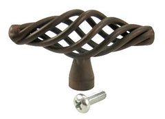 2 1/2 Inch Orleans Wrought Iron Knob