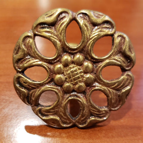 1 7/8 Inch Diameter Pull (Original, Antique Brass)