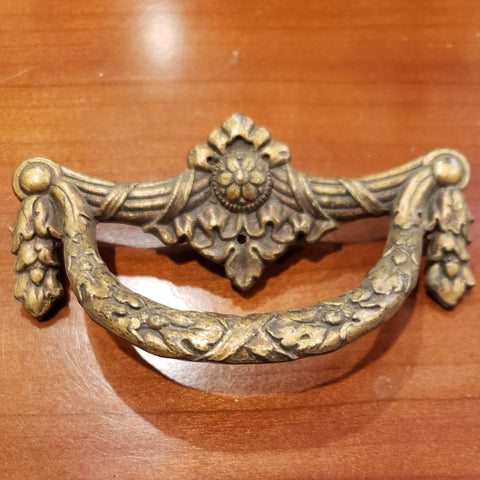 3 1/2 Inch Long Pull (Original, Antique Brass)