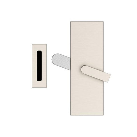 Modern Rectangular Privacy Barn Door Lock with Strike (Several Finishes Available)