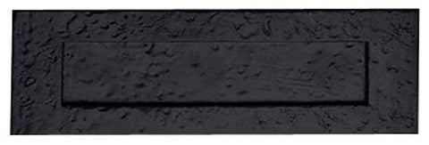 Craftsman Style Mail Slot in Solid Iron (Flat Black Finish)