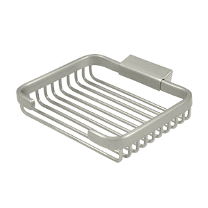 6 Inch Rectangular Wire Soap Holder Basket (Several Finish Options)