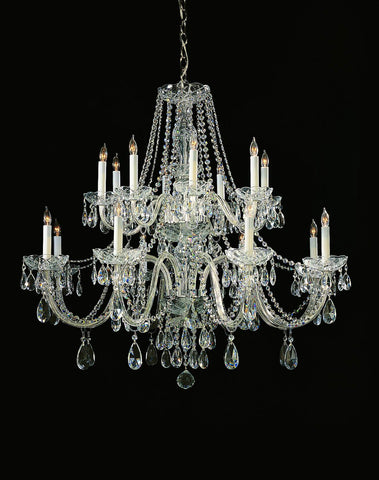 Crystorama 37 Inch Traditional Hand Cut Crystal 16 Light Chandelier