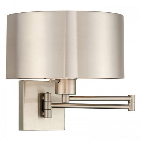 11 Inch 1-Light Brass Swing Arm Wall Sconce