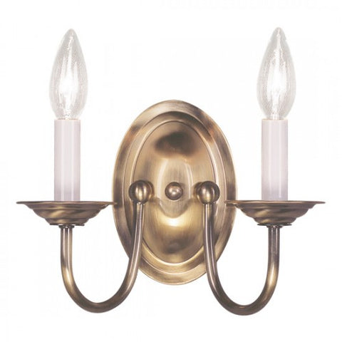 7 Inch Home Basics 2-Light Wall Sconce