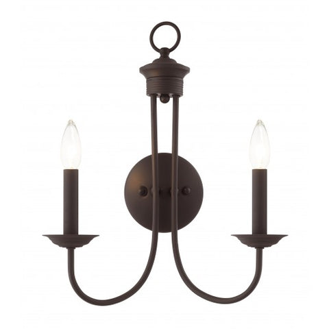 14 Inch Estate 2-Light Wall Sconce