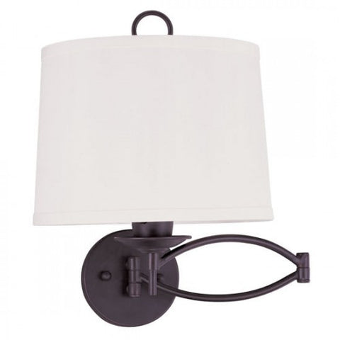 15.25 Inch Swing Arm 1-Light Wall Lamp